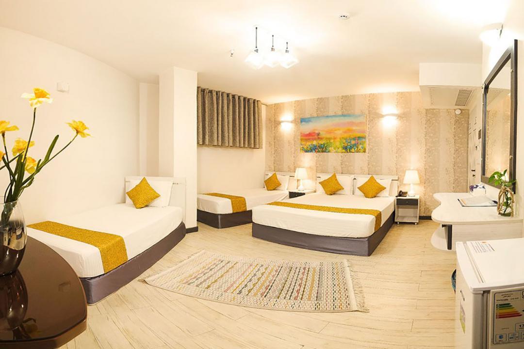 هتل آفتاب اتاق چهار تخته دابل سینگل