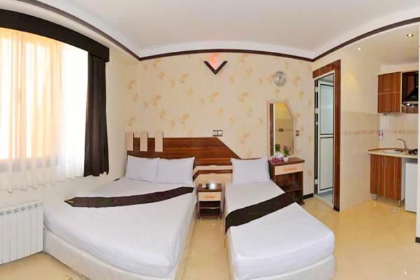 هتل آپارتمان علیزاده اتاق سه تخته دابل سینگلاتاق سه تخته دابل سینگل